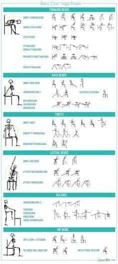 Basic chair yoga poses