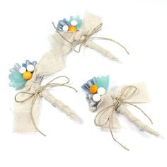 Wedding in blue-yellow by Viktoria Y on Etsy
