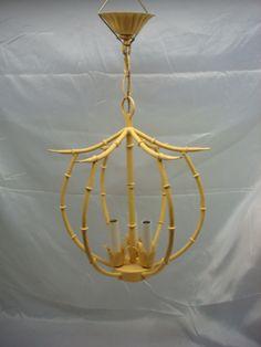 Vintage Mid Century~Bamboo Tole Vintage Italian Chandelier~Superb Light Fixture | eBay Toleware, Tole, Light, Italian Chandelier, Lighting, Light Fixtures, Chandelier, Entry Lighting, Ceiling Lights