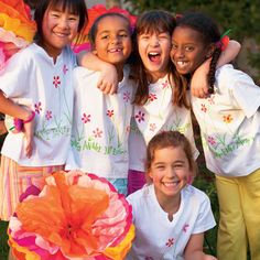 Thumbprint Garden T-Shirt Girls will love making these Thumbprint Garden T-shirts that they can personalize.