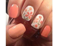 Fiori corallo per la nail art
