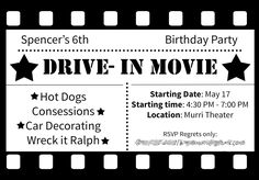 Drive in Movie Party by Simplistically Sassy