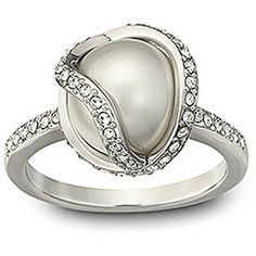 Swarovski Crystal And Faux Pearl Ring