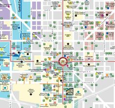 This Large Map Of Downtown Indianapolis May Take A Moment To Load - Indianapolis map usa
