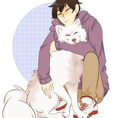 THIS IS REALLY CUTE KAGS LOOKS SO HAPPY WITH THE PUP PUP ASDFGHJKL ❤️ • Credit: ????? • Anime: Haikyuu • • • #Kageyama #kageyamatobio #pup #dog #iwaoi #kagehina #daisuga #bokuaka #gorgeous #beautiful #adorable #cute #yaoi #love #precious #smile #pretty #doujinshi #karasuno #seijou #nekoma #fukurodani #haikyuu #anime #fairytail #free #naruto #noragami