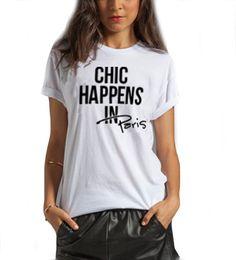 Chic Happens In Paris T-Shirt $24 via @Shopseen