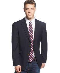 Tommy Hilfiger Slim-Fit Solid Navy Blazer