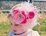 A bit much but I LOVE IT! - Couture Satin and Feathers Headband