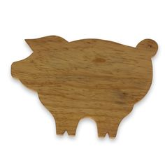Novica Handcrafted Pine 'Happy Pig' Cutting Board
