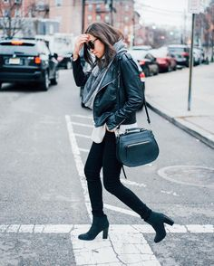 Winter style: All black