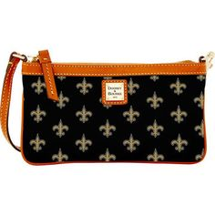 Women's New Orleans Saints Dooney & Bourke Black Large Slim Wristlet