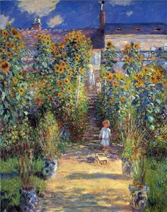 """The Artist's Garden at Vetheuil"", Claude Monet, Oil on Canvas, 1880"