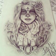 Day of the dead tattoo idea.