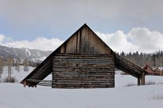 Old barn in Mountain Village ski resort -Telluride Colorado