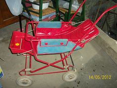 Vintage 50 S Columbia Tuk A Way Stroller For Display