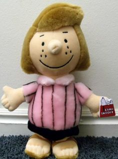 Brown hard to find 12 quot plush peppermint patty plush doll toys amp games