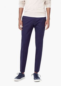 Cotton smart trousers