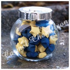 Jar of Stars ~Lucky Origami Paper Stars/Wishing Stars ~Good Luck ~Wedding/Party Favors ~Teacher/Leaving Gift