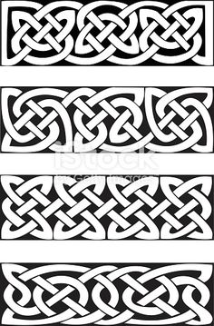 Celtic Knot Motifs (vector) royalty-free celtic knot motifs stock vector art & more images of ancient Celtic Knot Tattoo, Celtic Tattoos, Celtic Knots, Celtic Symbols, Celtic Art, Celtic Dragon, Design Celta, Art Viking, Vikings