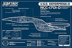 Star Trek Next Generation USS Enterprise Blueprint Poster Print (24 x 36) The Poster Corp http://www.amazon.com/dp/B011FP55KS/ref=cm_sw_r_pi_dp_hNz3wb0KGW58N