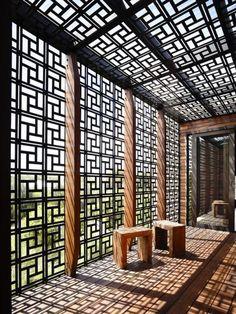 joli brise soleil métallique, design esthétique