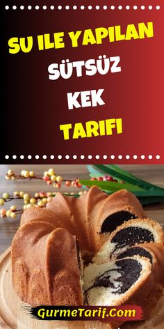 Milk-free cake recipe made with water- Su ile yapılan sütsüz kek tarifi the # sütsüzkek that - Beef Recipes For Dinner, Clean Eating Recipes, Crockpot Dump Recipes, Dump Meals, Beef Stroganoff, Food Cakes, Meals For Two, Food To Make, Cake Recipes