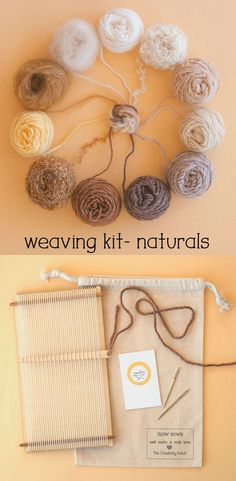 This is the perfect gift for someone who wants to learn to weave, because who doesn't love natural colors? The loom comes ready to weave, and you can find free weaving instructions on my blog. #weaving #learntoweave #weavingkit    #weaving #learntoweave #weavingkit Weaving Tools, Weaving Projects, Hand Weaving, Weaving Wall Hanging, Wall Hangings, Fibre And Fabric, Blanket Stitch, Sewing Hacks, Weaving