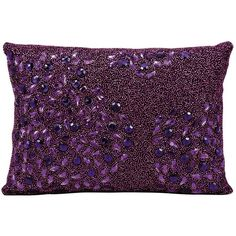 Mina Victory Luminescence Beaded Throw Pillow ($75) ❤ liked on Polyvore featuring home, home decor, throw pillows, purple, purple throw pillows, patterned throw pillows, beaded throw pillows, purple home accessories and purple home decor
