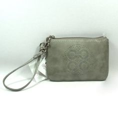 !@Best Buy Coach Patent Leather Audrey Perforated Signature Wristlet (Grey) 45569        .Check Price >> http://loanoneday.com/sale/landingpage.php?asin=B008LOI7FM