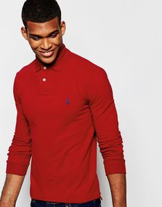 """Polo shirt by Polo Ralph Lauren Breathable cotton pique Ribbed collar and cuffs Embroidered polo player Two button placket Uneven vented hem Slim fit - cut close to the body Machine wash 100% Cotton Our model wears a size Medium and is 188cm/6'2"""" tall"""