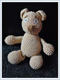 Háčkovánky: Háčkovaný dětský medvídek Free Pattern, Teddy Bear, Toys, Crochet, Crafts, Animals, Activity Toys, Manualidades, Animales