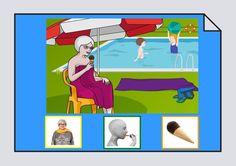 Material para trabajar la construcción de frases y el vocabulario con láminas, pictogramas y fotografías en torno al verbo Comer