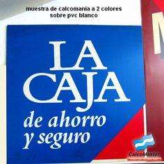 Calcomanias / Calco impresa a 2 colores sobre pvc autoadhesivo blanco