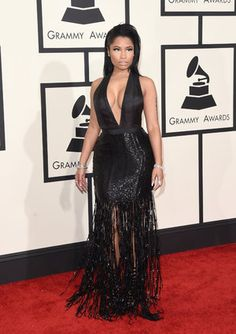 The 2015 Grammys Nicki Minaj in Tom Ford