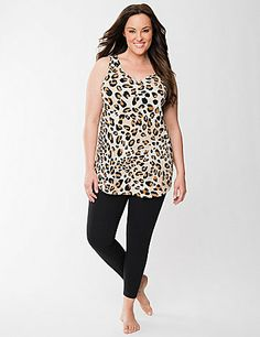 Animal Print Tank   Legging Sleep Set  b499ede84