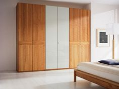 wooden and mirrored wardrobe doors