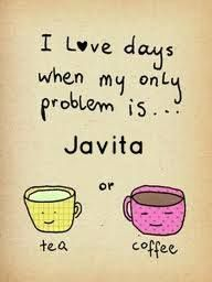 Oh, if all days were this easy, had a really hectic day today, full or problems to solve. Thank goodness I started my day with my 100% natural and Kosher certified coffee, it really makes a difference with my energy and mind clarity to solve a day full of problems. www.myjavita.com/thebetterjava