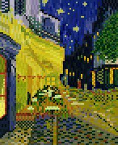 Café Terrace, Place du Forum, Arles(Vincent Willem van Gogh)