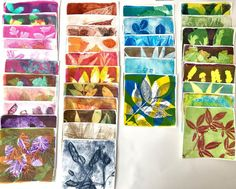 """Sarah Capes on Instagram: """"It's been a hot week making botanical monoprints in my attic studio! These have been made using a 5""""Gelli plate and acrylic paint. Getting…"""" Gelli Plate Printing, Capes, Attic, Crafty, Studio, Hot, Painting, Instagram, Cape Clothing"""