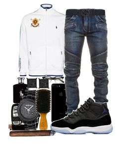 """""""Untitled #104"""" by crenshaw-m4fia ❤ liked on Polyvore featuring Polo Ralph Lauren, Balmain, Ralph Lauren, Gucci, men's fashion and menswear"""