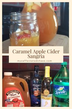 Caramel Apple Cider Sangria Recipe Caramel Apple Cider Sangria Recipe Caramel Apple Cider Sangria<br> In a world full of pumpkin spice lattes, be a glass of Caramel Apple Cider Sangria. This is the perfect sangria recipe for your next fall occasion! Caramel Apple Sangria, Apple Cider Sangria, Caramel Apples, Best Apple Cider, Spiced Apple Cider, Apple Cider Wine Recipe, Spiked Cider, Album Design, Slushies