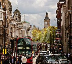 Busy street of London, England