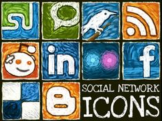 Social network icons #socialmedia