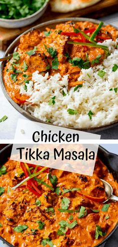 Chicken Tikka Masala - tender chunks of marinated chargrilled chicken in a a creamy mild sauce with garlic, ginger and spices. Kids and adults alike love this dish. Chicken Tikka Masala, Tikka Masala Sauce, Beef Masala, Tiki Masala, Curry Recipes, Asian Recipes, Easy Indian Food Recipes, Indian Chicken Recipes, Chargrilled Chicken