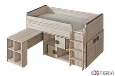 Dětská postel s psacím stolem Foster