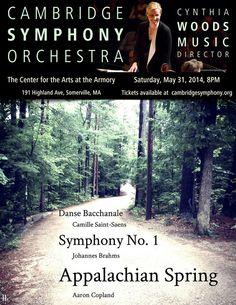 Cambridge Symphony Orchestra - Appalachian Spring - Saturday, May 31, 2014