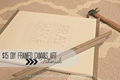 diy framed canvas art blank canvas to gallery wall art, diy home crafts