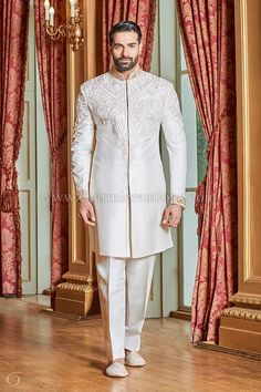 Mens Sherwani Suits Wedding Dresses for Men, Asian Groom Suits, Indian Wedding Suits , London, UK #menweddingsuits #MensFashionIndian