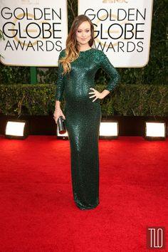 Love this green dress on Olivia Wilde.  2014 Golden Globes Red Carpet Rundown – Part 2 | Tom & Lorenzo Fabulous & Opinionated