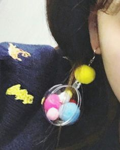 women concept - summer style colorful little cotton balls in a large cute plastic balloon earrings is available at Department Golden Pineapple💁 Please PM/emails us for further info Plastic Balloons, Diy Workshop, Holiday Travel, Bohemian Style, Balls, Pineapple, Concept, Colorful, Lifestyle